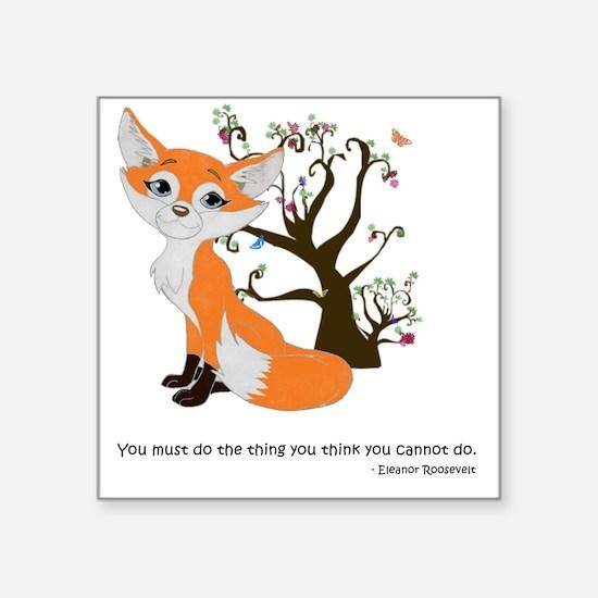 "foxtrottshirtLG Square Sticker 3"" x 3"""
