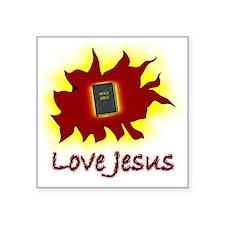 "lovejesus Square Sticker 3"" x 3"""