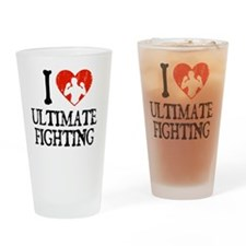 I Love Ultimate Fighting Drinking Glass