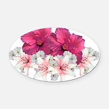 Floral Arrangement Oval Car Magnet