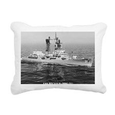 decatur ddg note cards Rectangular Canvas Pillow