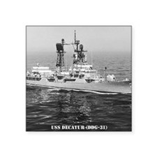 """decatur ddg note cards Square Sticker 3"""" x 3"""""""