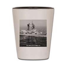 decatur ddg note cards Shot Glass