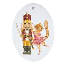 Cute Chipmunk Ornament (Oval)