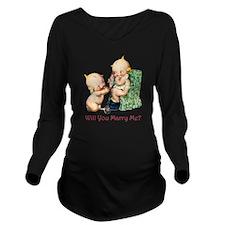 Kewpies028x3 copy Long Sleeve Maternity T-Shirt