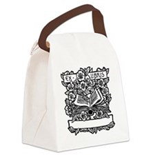 Book and Flowers Ex Libris Canvas Lunch Bag