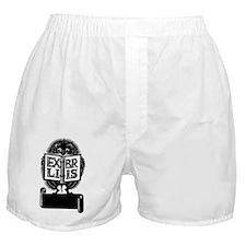 Hedgehog Ex Libris Boxer Shorts