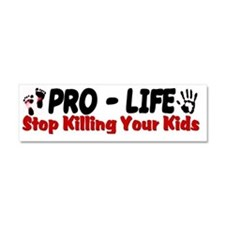 Stop Killing Your Kids Car Magnet 10 x 3