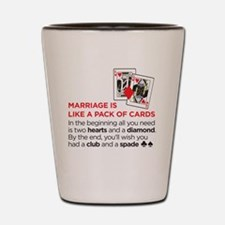 marriagecards Shot Glass