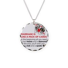 marriagecards Necklace Circle Charm