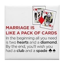 marriagecards Tile Coaster