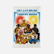 Village Bears trans Rectangle Magnet