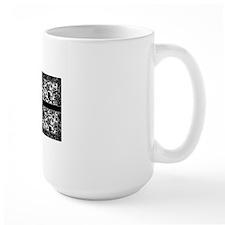 monogram_damask_bw_K2 Mug