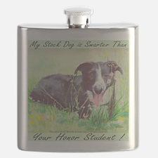 My Stock dog light green Flask