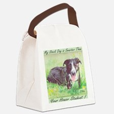 My Stock dog light green Canvas Lunch Bag