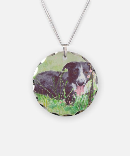 My Stock dog green Necklace