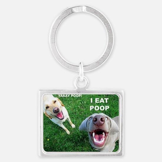 Dogspoop Landscape Keychain