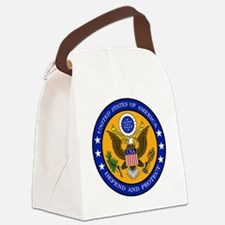 Defend And Protect 3 Canvas Lunch Bag