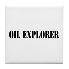 Oil Explorer Tile Coaster