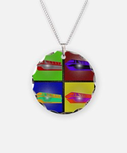 monorail pop art small poste Necklace