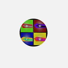 monorail pop art small poster copy Mini Button