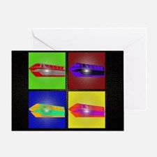 monorail pop art small poster copy Greeting Card