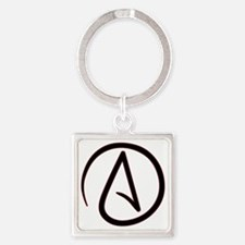 AtheistSymbolRound Square Keychain