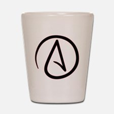 AtheistSymbolRound Shot Glass