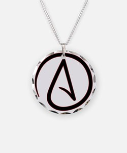 AtheistSymbolRound Necklace