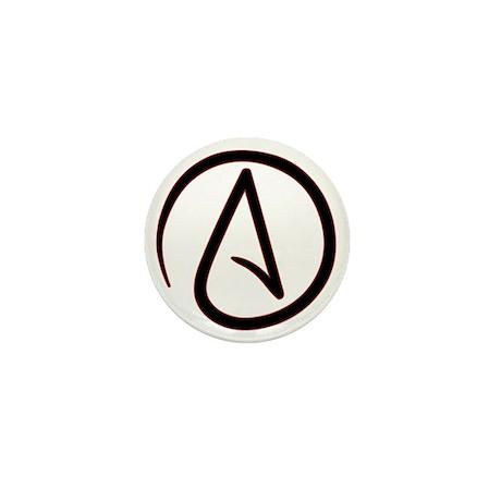 AtheistSymbolRound Mini Button