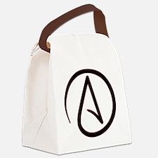 AtheistSymbolRound Canvas Lunch Bag