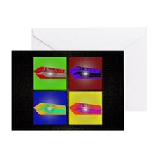 monorail pop art large poster copy Greeting Card