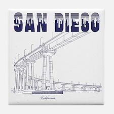 SanDiego_10x10_CoronadoBridge_Blue Tile Coaster