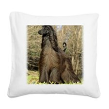 Afghan Hound 9P032D-201 Square Canvas Pillow