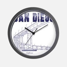 SanDiego_10x10_CoronadoBridge_Blue Wall Clock