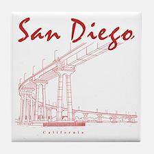 SanDiego_10x10_CoronadoBridge_Brown Tile Coaster