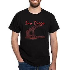 SanDiego_10x10_CoronadoBridge_Brown T-Shirt
