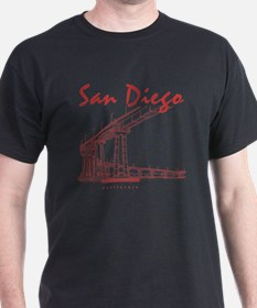 SanDiego_10x10_CoronadoBridge_Brown T-Shirt