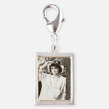 Diane 1 Silver Portrait Charm