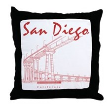 SanDiego_10x10_CoronadoBridge_Brown Throw Pillow
