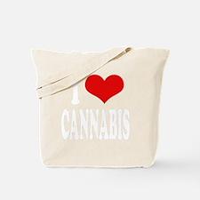 ilovecannabiswht Tote Bag