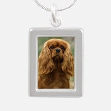 Cavalier King Charles Sp Silver Portrait Necklace