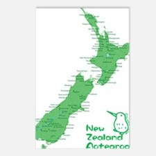 nzmap_back Postcards (Package of 8)