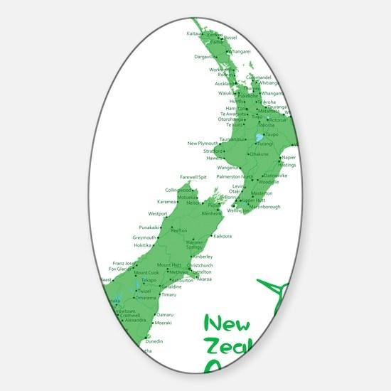 nzmap_back Sticker (Oval)