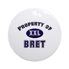Property of bret Ornament (Round)