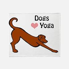 Dogs love yoga copy.gif Throw Blanket