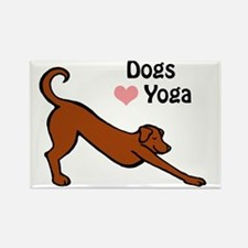 Dogs love yoga copy.gif Rectangle Magnet