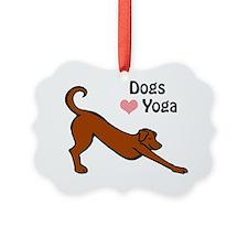 Dogs love yoga copy.gif Ornament