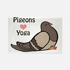 Pigeons love yoga copy.gif Rectangle Magnet