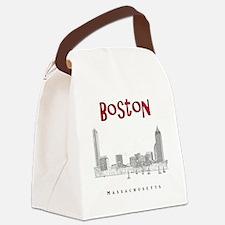 Boston_10x10_Skyline_BlackRed Canvas Lunch Bag